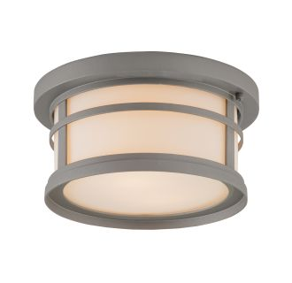 "Nottoway 12"" Wide 2 Light Flush Mount Outdoor Ceiling Fixture"
