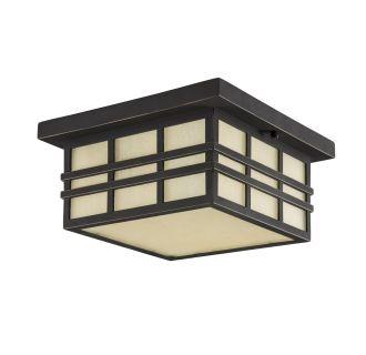 """Ambler 12"""" Wide 2 Light Flush Mount Outdoor Ceiling Fixture"""