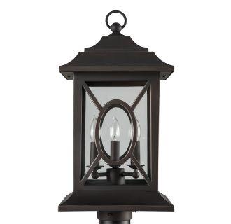 """Kingston Manor 20"""" Tall 3 Light Outdoor Post Light"""