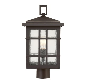 "Ambler Single Light 18-3/16"" High Outdoor Single Head Post Light with Seedy Glass Shade"