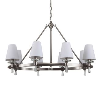 "Southampton 34"" Wide 8 Light Single Tier Empire Style Chandelier with Tapered Shades"