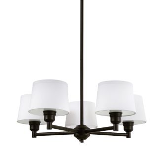 "Worthington 26"" Wide 5 Light Shaded Style Chandelier with Tapered Shades"
