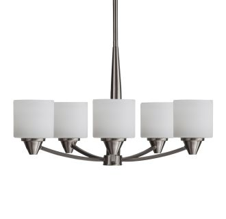 "Eastover 25"" Wide 5 Light Chandelier with Etched Glass Shades"