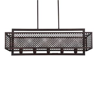 "Sunderland 40"" Wide 5 Light Chandelier with Patterned Metal Frame"