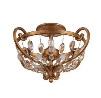 "Rosalind 18"" Wide 3 Light Semi-Flush Ceiling Fixture"