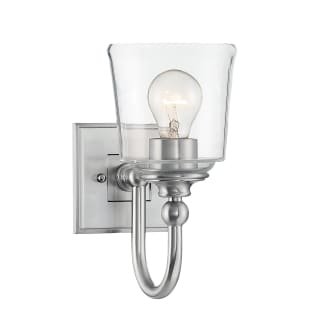 """Antonia Single Light 5-1/2"""" Wide Bathroom Sconce with Clear Glass Shade"""