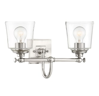 """Antonia 2 Light 17-3/8"""" Wide Bathroom Vanity Light with Clear Glass Shades"""