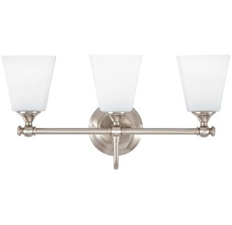 """Matina 3 Light 21"""" Wide Bathroom Vanity Light with Frosted Glass Shades"""