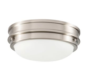 """2 Light 13"""" Wide Flush Mount Bowl Ceiling Fixture with Frosted Glass Shade"""