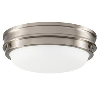 """3 Light 15"""" Wide Flush Mount Bowl Ceiling Fixture with Frosted Glass Shade"""