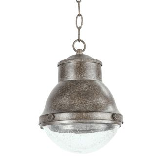 """Burruss 9"""" Wide Single Light Outdoor Mini Pendant with Industrial Style Shade"""