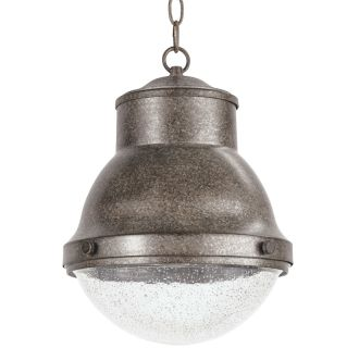 "Burruss 11"" Wide Single Light Outdoor Single Pendant with Industrial Style Shade"