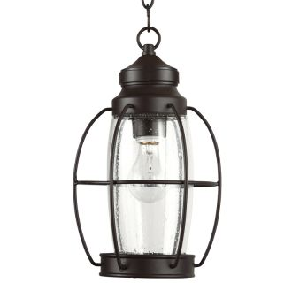 "West Rock 8"" Wide Single Light Outdoor Mini Pendant with Lantern Style Cage and Seedy Glass"