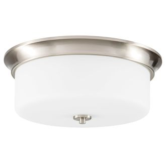 "15"" Wide 3 Light Flush Mount Ceiling Fixture"