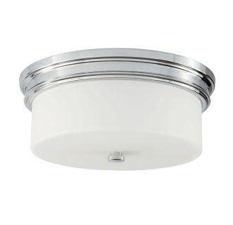 "14"" Wide 2 Light Flush Mount Ceiling Fixture"