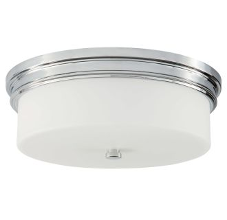 "16"" Wide 3 Light Flush Mount Ceiling Fixture"