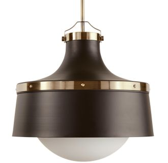 "18"" Wide Single Light Foyer Pendant with Industrial Style Shade"