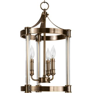 """12"""" Wide 3 Light Single Pendant with Candle Style Arms"""