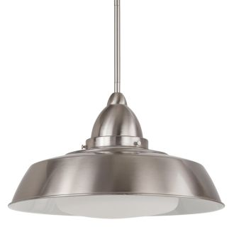 "16"" Wide Single Light Single Pendant with Industrial Style Shade"