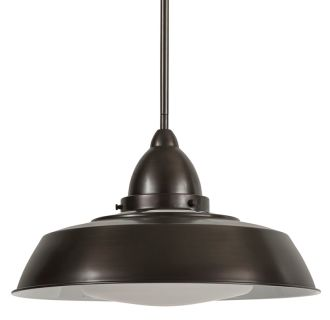 """16"""" Wide Single Light Single Pendant with Industrial Style Shade"""