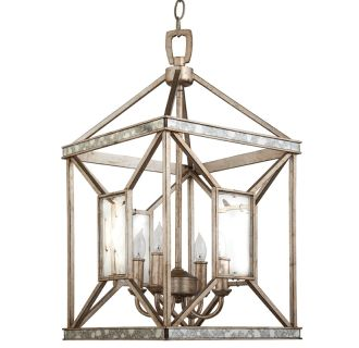 "17"" Wide 4 Light Foyer Pendant with Glass Accents"