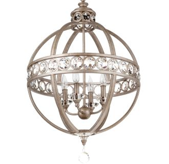 "21"" Wide 4 Light Chandelier with Globe Cage Frame"