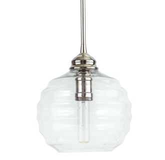 "9"" Wide Single Light Mini Pendant with Patterned Dome Glass Shade"