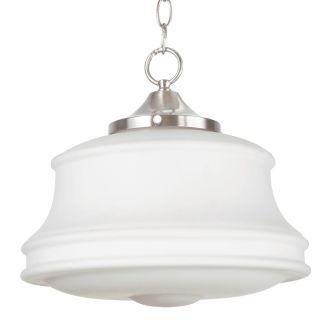 "14"" Wide Single Light Foyer Pendant with Schoolhouse Style Shade"