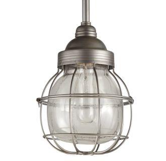 "7"" Wide Single Light Mini Pendant with Wire Glass Guard"