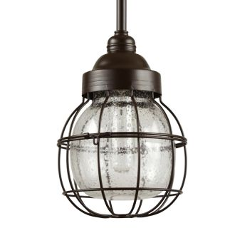 "7"" Wide Single Light Mini Pendant with Wire Glass Guard"
