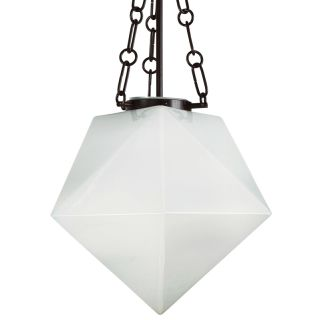 "14"" Wide Single Light Foyer Pendant with Geometric Shade"