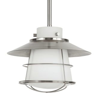 "10"" Wide Single Light Single Mini Pendant with Industrial Style Shade and Glass Guard"