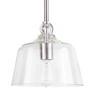 "Eastland 8"" Wide Single Light Mini Pendant with Cloche Dome Shade"