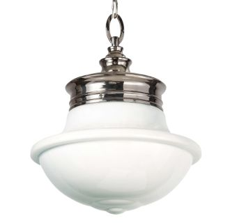 "12"" Wide Single Light Single Pendant with Schoolhouse Style Shade"