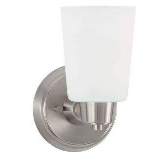 """Windsor Gate Single Light 5-3/8"""" Wide Bathroom Sconce with Frosted Glass Shade"""