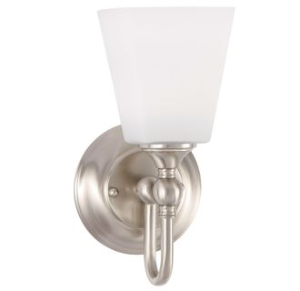 """Matina Single Light 5-1/4"""" Wide Bathroom Sconce with Frosted Glass Shade"""