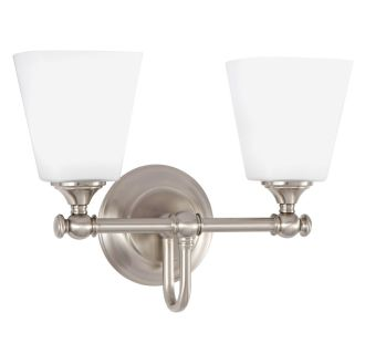 """Matina 2 Light 14"""" Wide Bathroom Vanity Light with Frosted Glass Shades"""