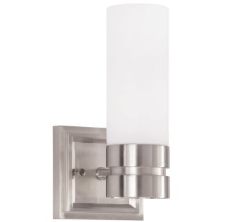 """Como Single Light 5"""" Wide Bathroom Sconce with Frosted Glass Shade"""