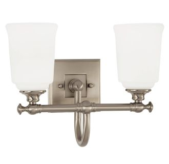 "Antonia 2 Light 13-1/4"" Wide Bathroom Vanity Light with Frosted Glass Shades"