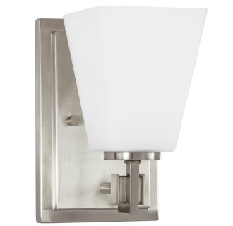 """Hoxton Single Light 5"""" Wide Bathroom Sconce with Frosted Glass Shade"""