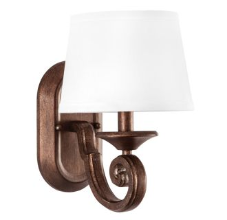 "Mahogany Haven 8"" Wide Single Light Wall Sconce with Fabric Shade"
