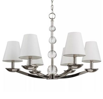"Bankloft 28"" Wide 6 Light Chandelier"