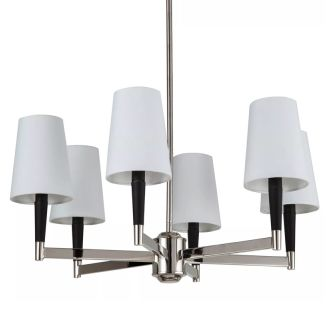 "Pritchard 24"" Wide 6 Light Chandelier with Tapered Shades"
