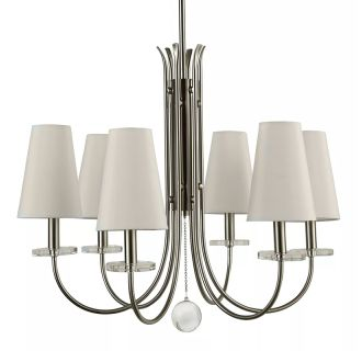 "Rodanthe 21"" Wide 6 Light Single Tier Shaded Style Chandelier with Tapered Shades"