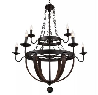 "Sandrift 32"" Wide 9 Light 2 Tier Empire Style Chandelier with Styling"