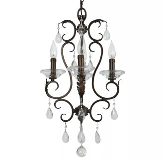 "14"" Wide 4 Light Single Tier Shaded Style Chandelier with Crystal Accents"