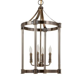 "16"" Wide 4 Light Single Tier Mini Chandelier with Candle Style Arms"
