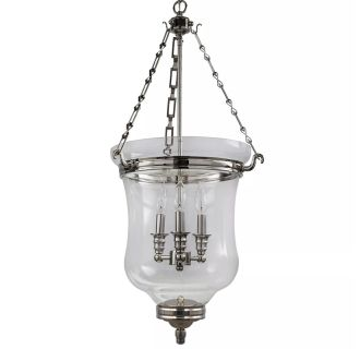 "17"" Wide 3 Light Pendant with Urn Style Glass Shade"