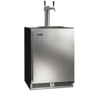 24-Inch Dual Faucet C-Series Beer Dispenser Stainless Steel Door Right Hinge