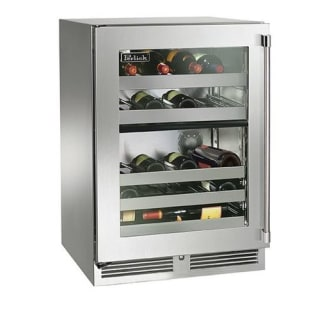 32 Bottle 24 Built-In Dual Zone Outdoor Wine Reserve with Fully Integrated Glass Door - Left Hinge